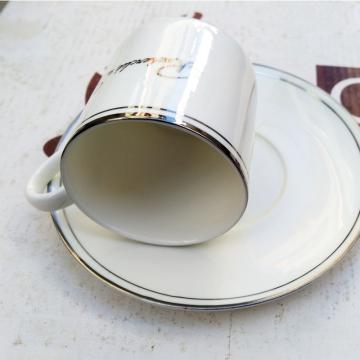 咖啡杯银边 精美、情侣、骨瓷套装咖啡杯、精美、时尚、经典杯型