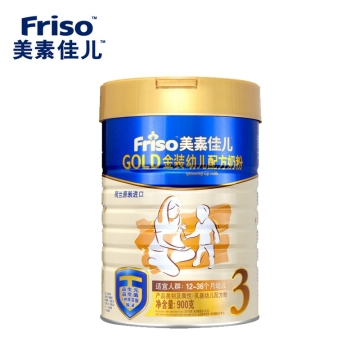 美素佳儿 GOLD金装幼儿配方奶粉 3段 900g 适合12-36个月婴儿