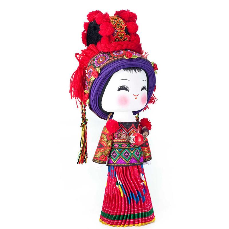 云南民族特色工艺品民族木娃娃瑶族民族娃娃主产品供观赏和收藏工艺品