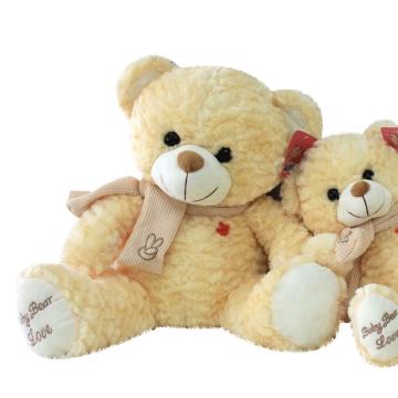 可爱卡通动漫毛绒玩具公仔玩偶布偶围巾熊