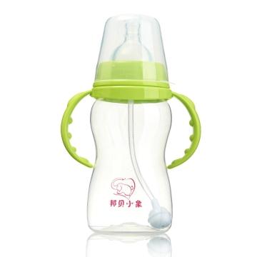 邦贝小象 宽口PP奶瓶 0M+ BP1021 240ml 母乳实感 双重换气