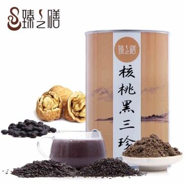 臻之膳 核桃黑三珍(核桃黑芝麻黑豆黑米粉) 600克/罐