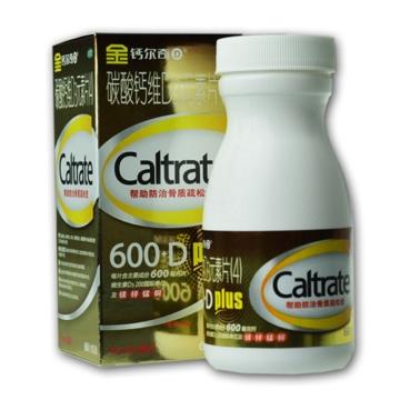 【健保通】金钙尔奇D 碳酸钙维D3元素片 4 薄膜衣片 600mg*60片*1瓶
