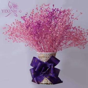 懿心鲜花 满天星干花 干花瓶插办公室餐厅卧室客厅摆放花艺 包邮