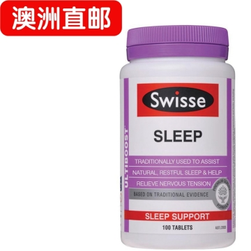 【澳洲直邮】Swisse/瑞思Swisse sleep安睡宝助眠片 抗压缓解压力100片*2瓶 包邮