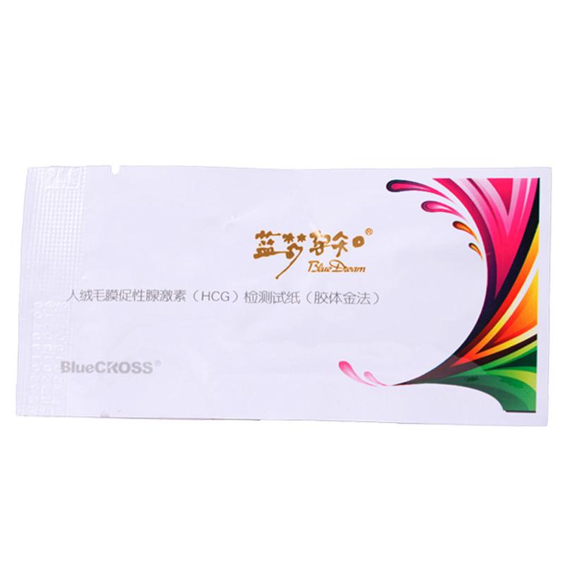 【健保通】蓝梦孕知人绒毛膜促性腺激素(HCG)检测试纸(胶体金法) 2.5mm 单条装
