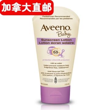 【加拿大直邮】艾维诺纯天然燕麦婴儿长效防晒乳液 Aveeno Baby SPF 55 110ml