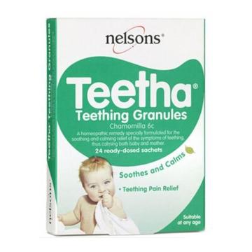 英国 Nelsons Teetha 出牙粉 缓解出牙疼痛(24片/盒)