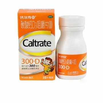 钙尔奇D 碳酸钙D3咀嚼片 Ⅱ 钙尔奇D300咀嚼 300mg*30片*1瓶