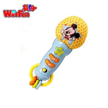 英纷 米奇蓝色宝宝麦克风 3m+ 儿童玩具话筒 早教唱歌乐器播放音乐