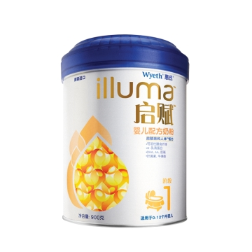 惠氏 启赋婴儿配方奶粉(1段) 900g 启赋亲和人体配方