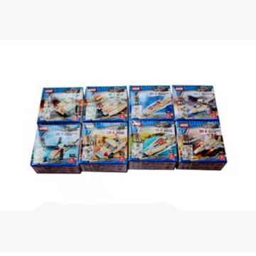 新乐新 古迪 陆地战壕三变八合一积木 1套 8004-8  儿童益智玩具