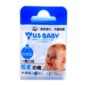优生 一般口径标准型奶嘴十字孔 M号 U11002 1个 2个月以上