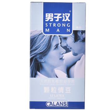 【健保通】男子汉颗粒情豆颗粒(浮点)型天然胶乳橡胶避孕套 52±2mm*12只