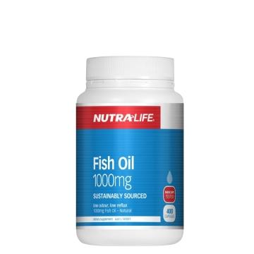【澳洲直邮】Nutralife/纽乐 深海鱼油1000毫克 400粒*2瓶 包邮