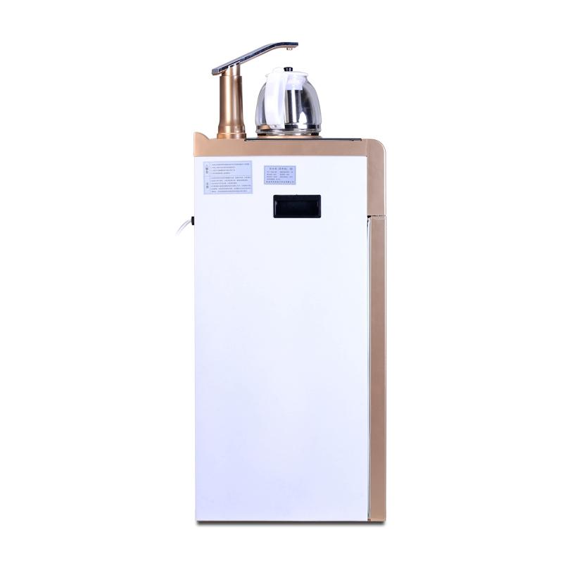 冬芒立式饮水机家用茶吧机豪华电热水壶办公室养生茶即热dmh-08c 白色