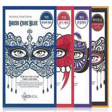 韩国直邮MEDIHEAL/美迪惠尔(可莱丝)蕾丝面具假面舞会面膜贴(红色)深层滋养10片/盒