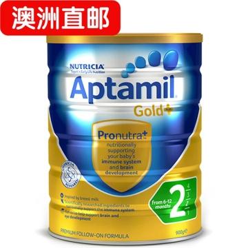【澳洲直邮】Aptamil/爱他美金装婴幼儿配方奶粉2段 6-12个月 900g*3 包邮