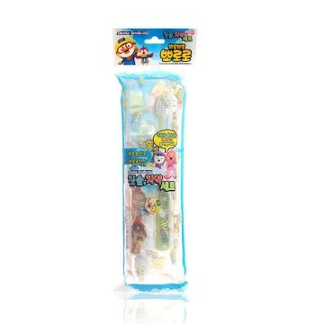 【韩国进口 国内仓发货】Pororo啵乐乐 儿童刷牙套装(1个牙刷+1个牙膏旅行用)