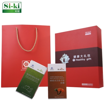si-ki时健 健康礼包 2盒葛根枳椇软胶囊+2盒破壁灵芝孢子粉胶囊礼盒套装