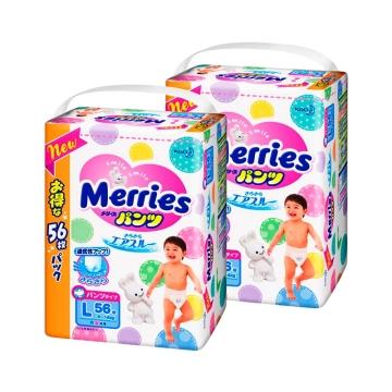 日本Merries花王拉拉裤L56(大增量装)*4
