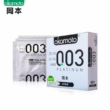 OKAMOTO 冈本ok003白金超薄避孕套3只 保险安全套 套套 成人性用品