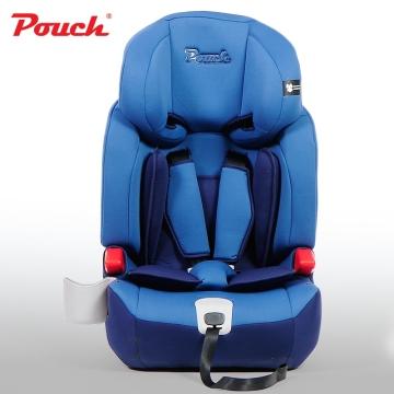 Pouch儿童安全座椅 汽车宝宝安全坐椅 isofix硬接口9个月-12岁德国  型号KS16 蓝色