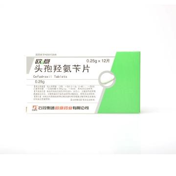 欧意 头孢羟氨苄片 0.25g*12片*1板