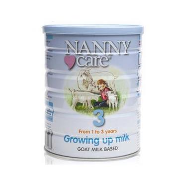 英国Nanny Care 高端婴幼儿羊奶粉3段 1-3岁宝宝 900g (6罐装)