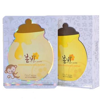 韩国papa recipe春雨蜂胶蜜罐补水美白保湿嫩肤滋润面膜 白色 10片/盒