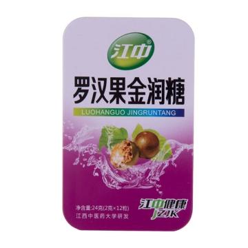【健保通】江中 罗汉果金润糖  24g(2g*12粒)