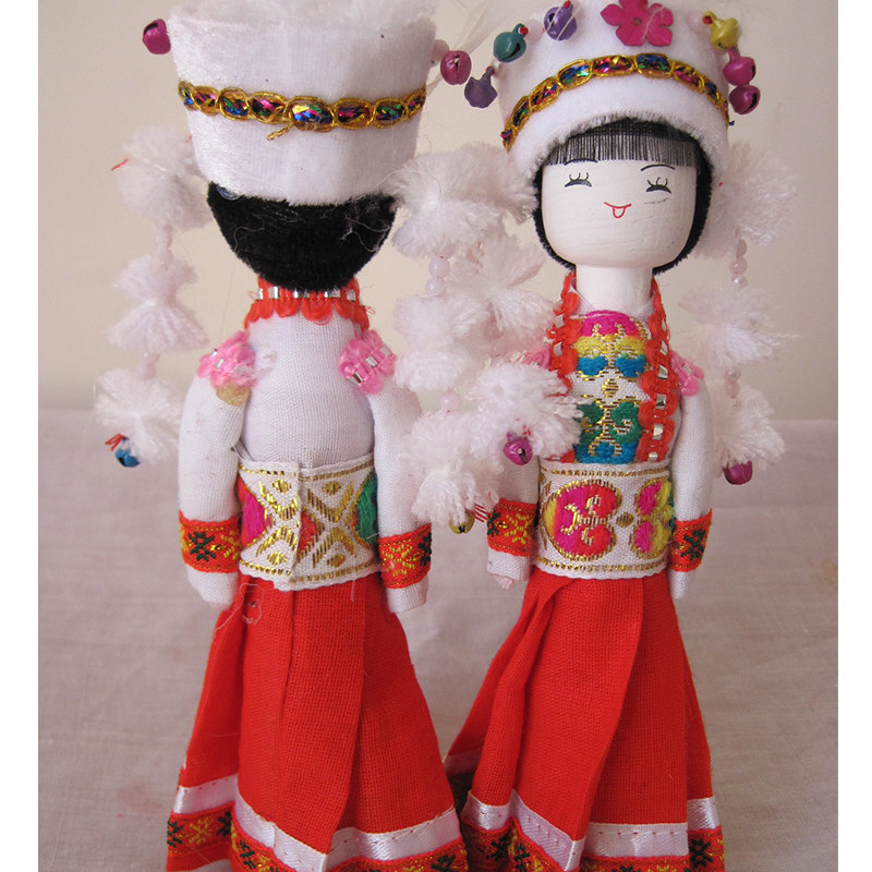 云南民族特色工艺品民族木娃娃蒙古族民族娃娃主产品供观赏和收藏工艺