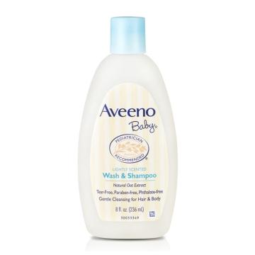 美国AveenoBaby艾维诺天然燕麦洗发沐浴二合一滋润保湿236ml/瓶