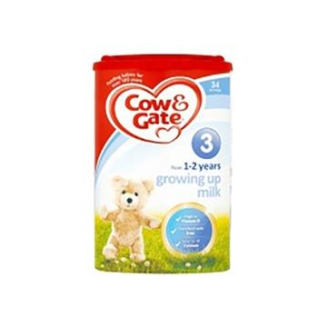 英国Cow&Gate牛栏婴幼儿配方奶粉3段(1-2周岁宝宝900g)*2