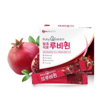 韩国九朵云Im;Beauty RubyQueen 石榴女王发酵乳酸菌 美颜石榴酵素 40包/盒 1盒装