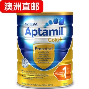 【澳洲直邮】Aptamil/爱他美金装婴幼儿配方奶粉1段 0-6个月 900g*3 包邮