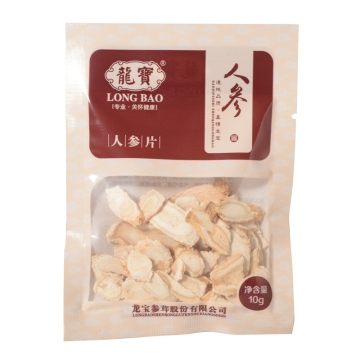 人参片 10g塑袋 辽宁 龙宝参茸