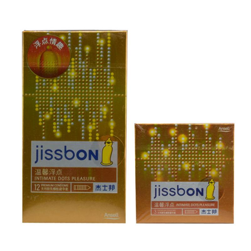 杰士邦温馨浮点香蕉香天然胶乳橡胶避孕套 52mm±2mm*3只