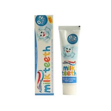 英国Aquafresh 纯天然儿童牙膏 宝宝可吞咽可食用牙膏 0-2岁使用(50ml/支)