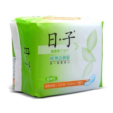 日子 亲肤棉质超薄日用卫生巾(健康型) 240mm*10片