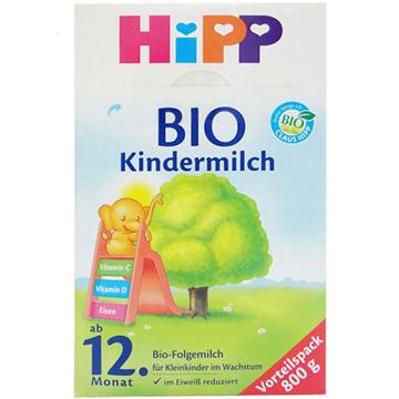 德国Hipp Bio喜宝有机奶粉1+(12个月以上宝宝)800g*2