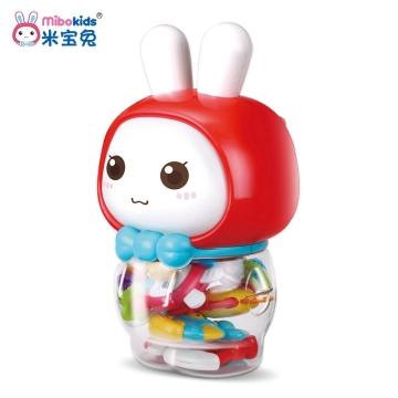 米宝兔 摇铃套装玩具系列(MB20)益智玩具组合系列 寓教于乐