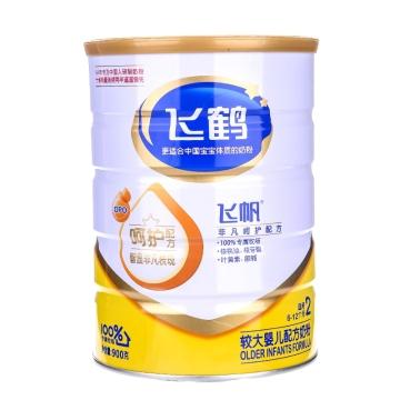 飞鹤 飞帆较大婴儿配方奶粉(2段) 900g(奶粉不能替代母乳喂养)