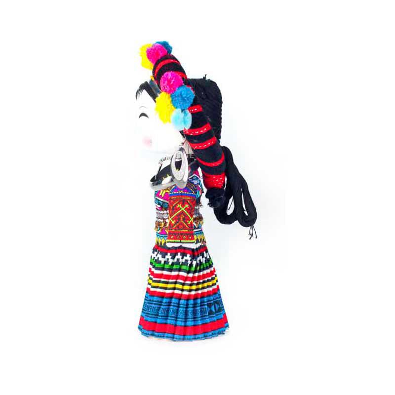 云南民族特色工艺品民族木娃娃佤族民族娃娃主产品供观赏和收藏工艺品