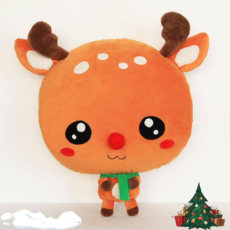 【紫荆屋】暖猫diy布艺材料包冬季卡通小鹿迪恩暖手抱枕毛绒玩具