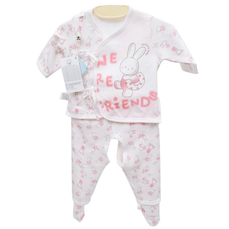 世纪娃可爱兔和服三件套 婴儿内衣 宝宝服饰 舒适吸汗 干爽sjw-82776