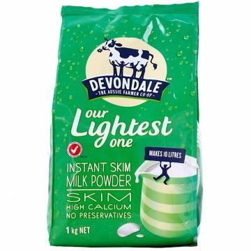 澳洲Devondale德运脱脂高钙营养成人奶粉1kg/袋