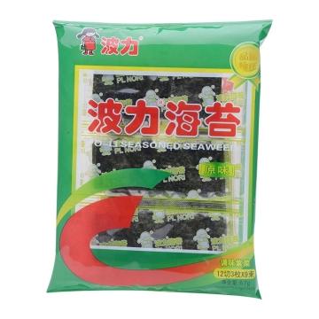 波力海苔 原味 6.7g 休闲食品 儿童零食小吃 海苔即食 紫菜