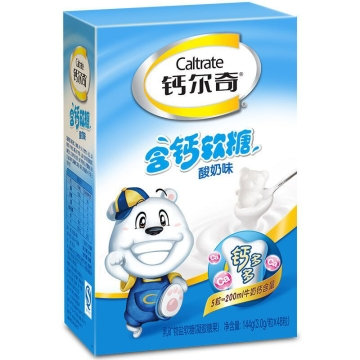 钙尔奇含钙软糖(酸奶味) 144g(3.0g*48粒)