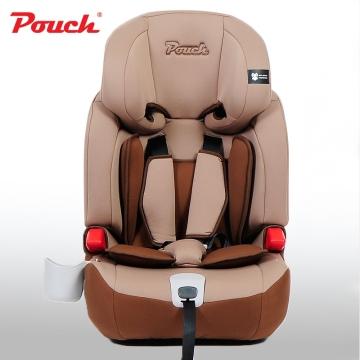Pouch儿童安全座椅 汽车宝宝安全坐椅 isofix硬接口9个月-12岁德国  型号KS16 咖啡色